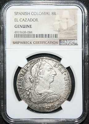 1782 8 Reales Elcazador Shipwreck Coin NGC Certified from the Wreck Nice Coin!