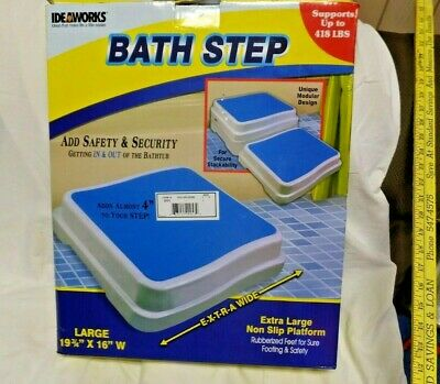 One Safety Step Stack-able - Rubber Feet Slip Resistant Holds 418 lb BRAND NEW