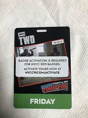 NYCC 2019 Friday October 4 2019 Badge/Pass New York Comic Con Ticket 10/4/19 HOT