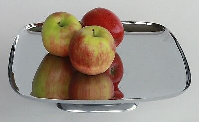 Mad Men Era,1960s Mid-Century Modern, Hellerware, Chromium & Wood Serving Dish