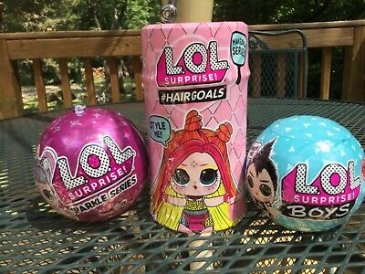 LOL Surprise Doll lol Surprise Lot (3) MGA  New! Boys/Hairgoals/Sparkle
