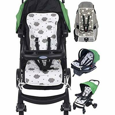 Reversible Pure Cotton Universal Baby Seat Liner Stroller, Car Seat, Jogger,