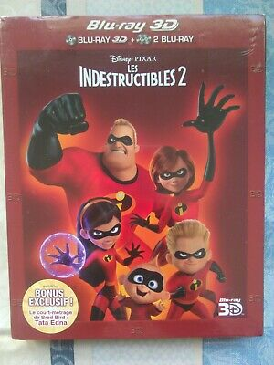 Les indestructibles 2 , blu-ray 3D + 2 blu-ray neuf sous blister