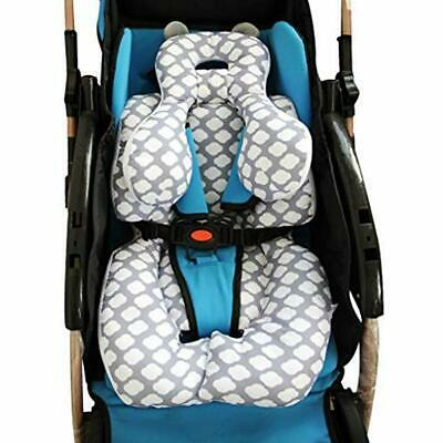Infant Car Seat Insert, Cotton Baby Stroller Liner Head Body Support Pillow, Pad