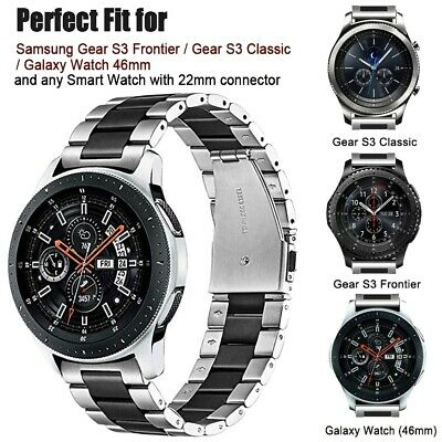 NEW Stainless Steel Strap Band For Samsung Galaxy Watch 46mm Gear S3 Sport Band