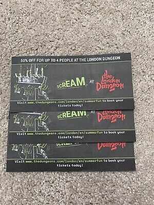 The London Dungeon 50% Off For Up To 4 People Voucher valid until summer 2020