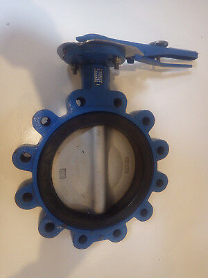 "BUTTERFLY VALVE - STAINLESS STEEL DISC - 8"", New/unused"
