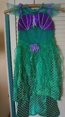 Genuine Disney Store Ariel Little Mermaid Costume 5-6 Years