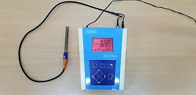 JENWAY pH / mV Temperature Meter Model 3520 with probe and power adapter