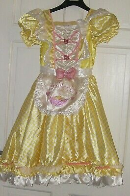Lovely Goldilocks Costume  age 9-10 years Yellow Checked Dress