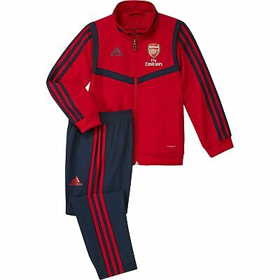 adidas Official Kids Arsenal FC Pre-Match Football Tracksuit Red/Navy Infants