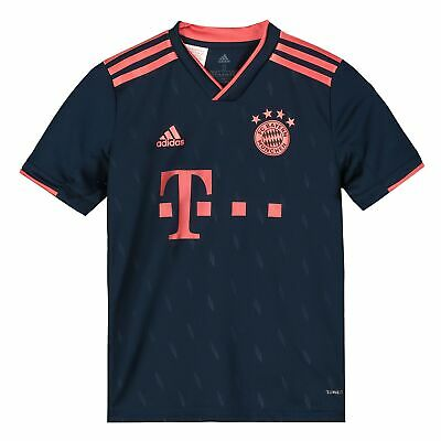 adidas Official Kids FC Bayern Munich Third Football Shirt Jersey Top 2019-20