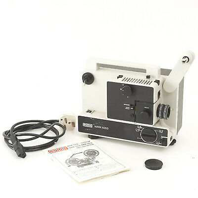 Eumig Mark 605D Dual 8 Silent Projector With Instructions & Mains Cable.