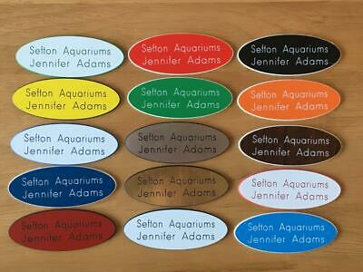 5 Engraved Oval Personalised staff name badges, shop clubs pub school office-