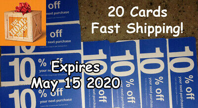 (20X) LOWES Card Coup0ns 10% OFF At Competitors Home Depot ONLY Ex 6/15/20 GIFT