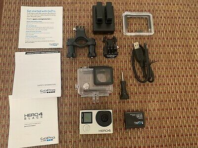 GoPro HERO4 CHDHX-401 BLACK Edition Action Camera Camcorder w/ case & Accesories