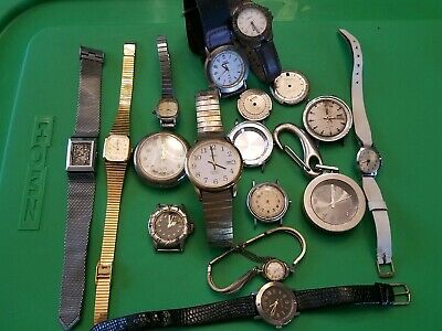 Vintage Junk Drawer Lot Misc. WATCHES