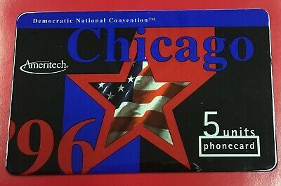 Democratic Convention Chicago 1996 Phone Card Mint Condition