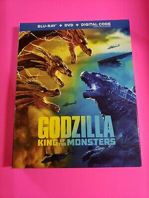 Godzilla King of the Monsters (Blu Ray + DVD with SLIPCOVER NO DIGITAL