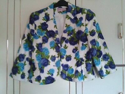 Phase Eight Dress & Jacket : Size 12 : Blues/Green/White Floral