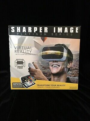 NEW $50 Sharper Image Smartphone Virtual Reality W/ Controller