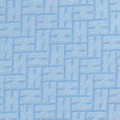 HERMES HEAVY TWILL TIE ~ METALLIC LIGHT BLUE w/ FACONNEE JACQUARD RAISED Hs XL