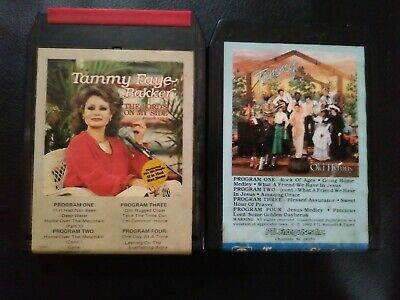 2 VINTAGE RARE HARD TO FIND TAMMY FAYE BAKKER 8 TRACK TAPEs CHRISTIAN MUSIC