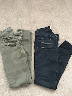 River Island Jeans Two Pairs Black/Green Size Uk8 26/34