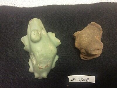 (GD-9/20B) Lot of 2 Pre-Columbian Artifacts Ca. 300bc-600ad