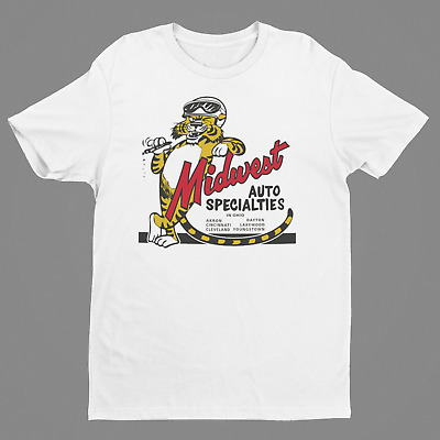 MIDWEST AUTO SPECIALTIES OHIO T-Shirt Hot Rod Drag Racing Speed Shop Mopar Chevy