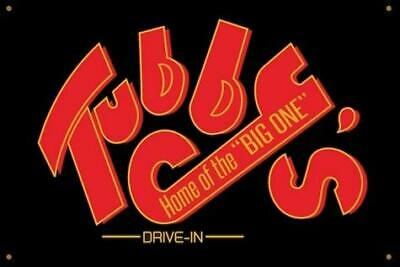 TUBBY'S HOME OF THE BIG ONE Vinyl Banner 2'x3' Hot Rod Hollywood Knights Newbomb