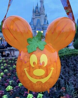 New Disney Mickey's Not So Scary Halloween Party Pumpkin Balloon Popcorn Bucket