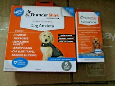 "Dog ""Thunder Shirt"" For Dog Anxiety During Storms Size Small New W/Spray"