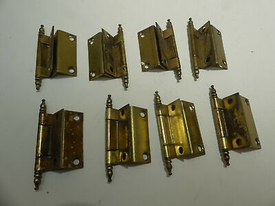 4 Pair Lot Vintage Furniture Cabinet Hinges Hardware Brass 2 Inch