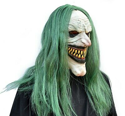 Scary Halloween Clown Mask with Hair Costume Party Cosplay Jokester Clown