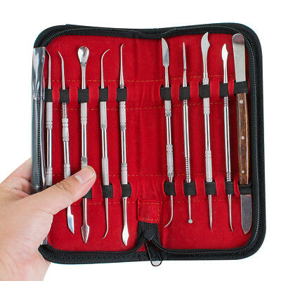 Stainless Steel Sculpting Wax Carving Tool Kit Dental Lab USA New Free ship