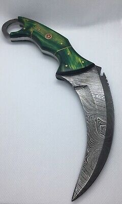"12"" D2 Damascus Hunting Knife - Hand Forged Damascus Steel - FREE EXPRESS POST"