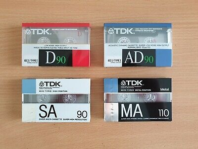 4 x TDK Blank Audio Cassette Tapes - Mixed Lot