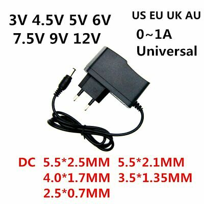 AC 110-240V DC 3V 4.5V 5V 6V 7.5V 9V 12V adapter 0.5A 1A Converter power supply