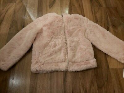 BNWT stunning Michael kors light pink faux fur  jacket with hod - 5 years girls