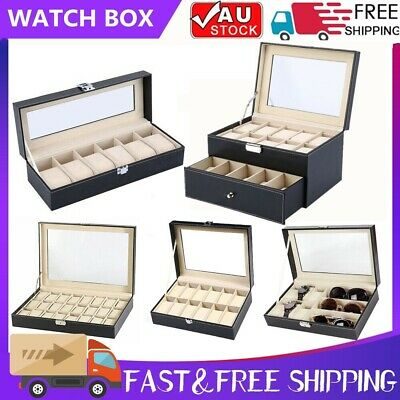 6/9/10/12/20/24 Watch Jewelry Storage Holder Box Watches Sunglasses Display Gift