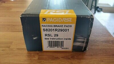 Pagid Rsl 29 Front Brake Pads For Vw Golf Mk7 2.0 R Disc 340 Mm 13- S8201R29001