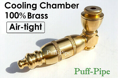 Metal Smoking Pipes Silver Brass Chamber Pipe Herb Bowl