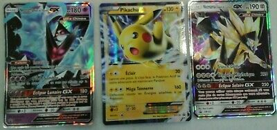 lot de 3 cartes gx ex pokemon neuves