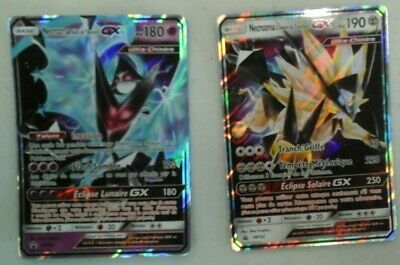 lot de 2 cartes gx  pokemon neuves