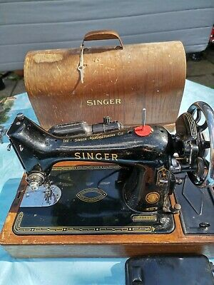 Vintage SINGER 99K Electric Sewing Machine With Foot Pedal & Lamp Portable