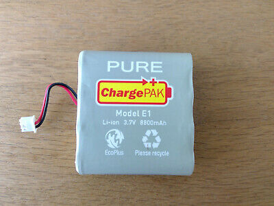 Rechargeable battery pack for Pure Radio. Model E1 - ChargePAK