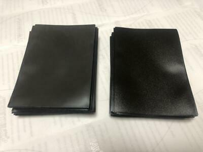 120pcs DECK PROTECTOR Card Sleeves 62mm*89mm black and Glossy as picture