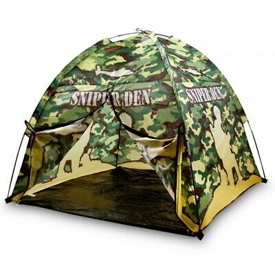 Kids Army Camouflage Sniper Den Play Tent Boys Soldier Role Play Camo Kas