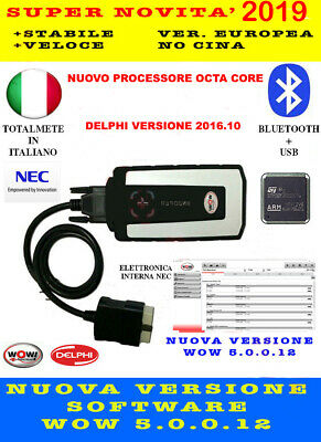Diagnosi Auto Professionale Multimarca 2019 2016.10 Delphi Wow Bluetooth Ultima